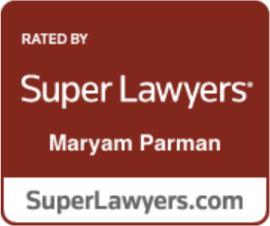 Rated by Super Lawyers - Maryam Parman